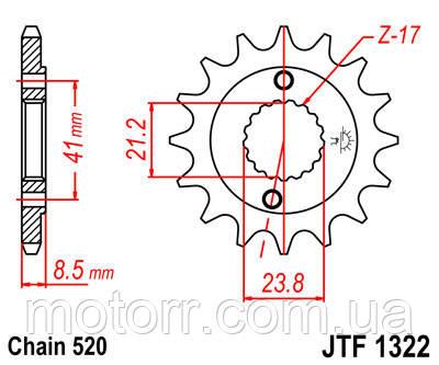 Зірка передня JT JTF1322.15