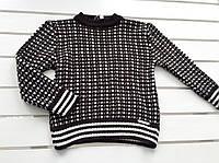 Детский вязаный теплый свитер на на 4 - 6 лет