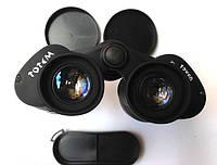 Черный бинокль Тотем 12х60, резиновое покрытие. Полевой бинокль. Бинокли, монокли, телескопы.