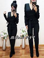 Женский модный костюм: жакет и брюки (4 цвета)