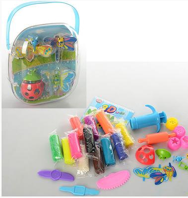 Тесто для лепки 12 цветов в чемодане +инструменты и формочки