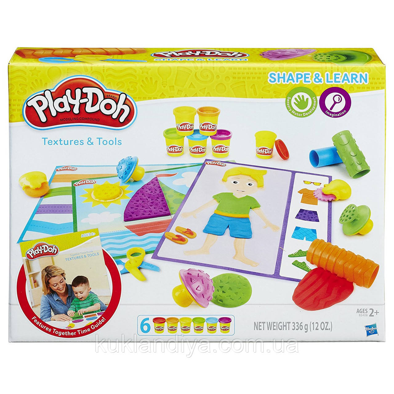 Набор Play-Doh изучаем форму, текстуру и инструменты