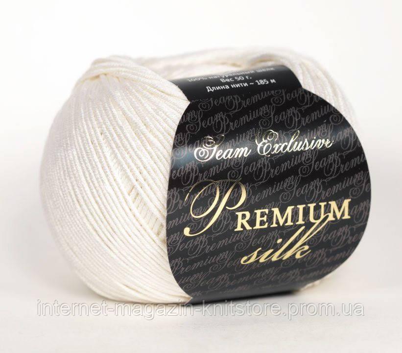 Пряжа Сеам Premium Silk Белый