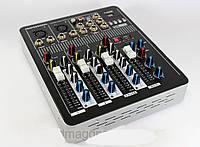 Профессиональный аудио микшерный пульт Mixer BT-4000 4ch + bluetooth 4 х канальный