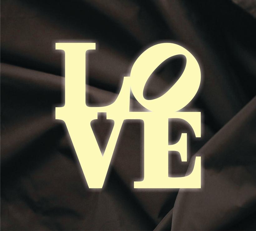Об'ємна напис Love 5