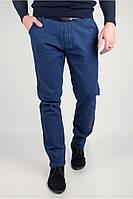 Мужские молодежные брюки синие (225KF079)
