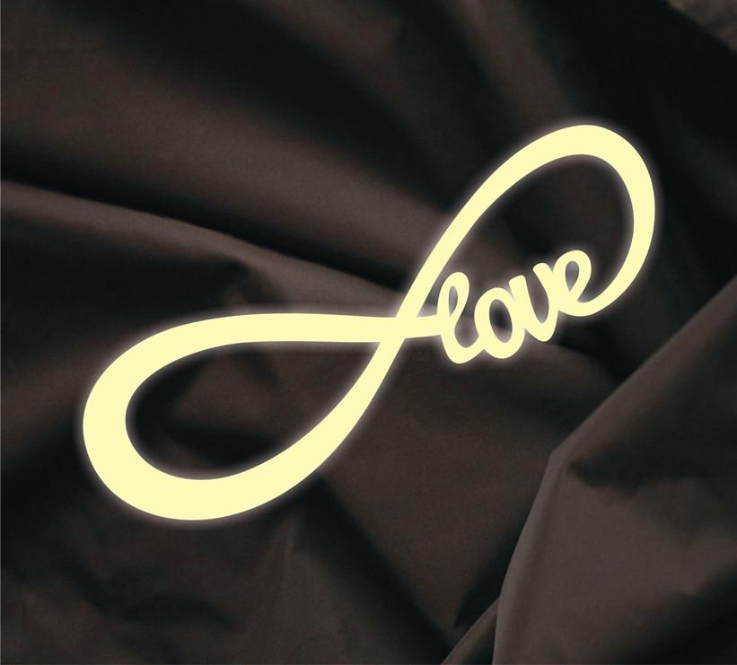 Объемная надпись Love бесконечность