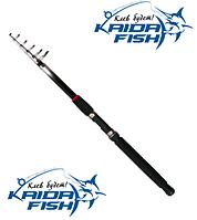 Телескопическое рыболовное удилище с кольцами для рыбалки Kaida Skate 810-240 2,4 метра