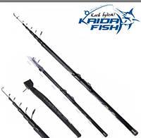 Телескопическое рыболовное удилище с кольцами Kaida Travel 813-350 3,5 метра