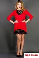 Женское модное платье-красное-Элика