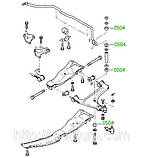 05-04 Втулка стабилизатора Opel Kadett-E, Astra, Calibra, Ascona-C, Vectra-A,  Astra Classic; Daewoo, фото 3