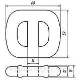 05-12 Крепление глушителя Opel Corsa, Omega-A, Vectra-A; Daewoo Lanos, Nexia, 90108055; 852716, фото 2