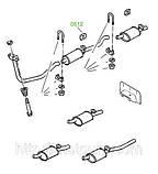 05-12 Крепление глушителя Opel Corsa, Omega-A, Vectra-A; Daewoo Lanos, Nexia, 90108055; 852716, фото 3