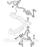 05-14 Втулка переднего стабилизатора (ф18) Opel Vectra-B, Astra-G+Zafira, Corsa-C; 90468567; 350130, фото 3