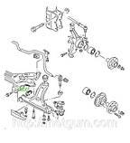 08-00 Сайлентблок передний переднего рычага Audi, Seat, Volkswagen, Skoda; 357407182, фото 3