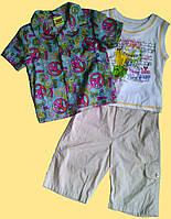 Летний костюм для мальчика - рубашка, майка, бриджи