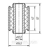 05-33 Сайлентблок поперечного верхнего заднего рычага (бумеранг) внутренний Opel Vectra-C; 13105744, фото 2
