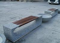 Скамейка Престиж уличная парковая из мытого бетона
