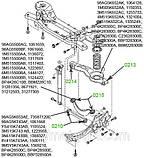 02-15 Сайлентблок поперечного рычага (бумеранг) задней подвески Ford Focus; Mazda 3, 5; BP4K28C10B, фото 3
