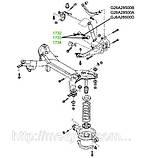 17-32 Сайлентблок поперечного заднего рычага 12x40x35x51 Mazda 6 GG, GY; G26A28500B; G26A28500A; GJ6A28500D, фото 3