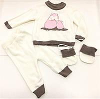 Детский вязаный костюм для девочки на 6-24 месяца ,  1-2 года