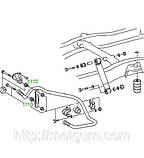 11-10 Втулка стабилизатора Mercedes (Transporter, Truck)   507 — 814 D, VARIO; 6673200073, фото 3