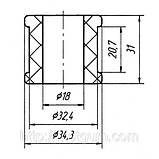 11-31 Втулка амортизатора Mercedes (Transporter) Sprinter 208 — 314 D; 208 CDI — 314 CDI; 0003237885, фото 2