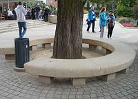 Скамейка приствольная Бумеранг из мытого бетона