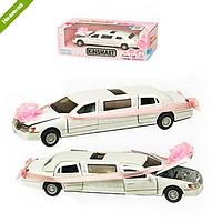 Детская Инерционная Машина Lincoln Town Car Stretch Limousine, металлическая машина KT7001W, KINSMART