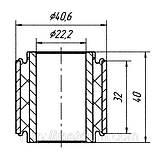 19-04 Сайлентблок поперечной тяги задней подвески внутренний Daewoo Nubira; 96308618, фото 2