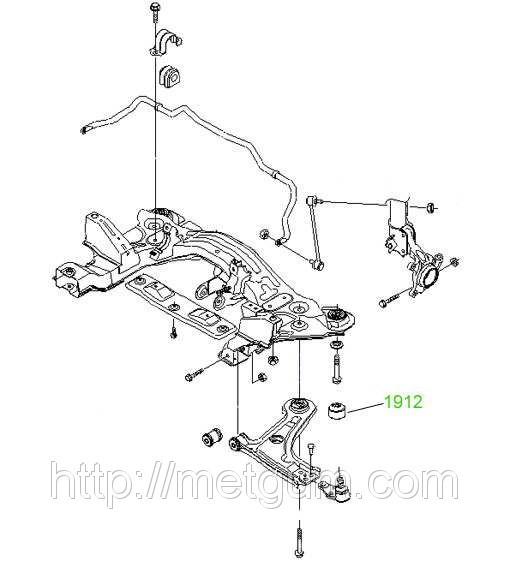 усиленый сайлентблок переднего рычага задний chevrolet lacetti