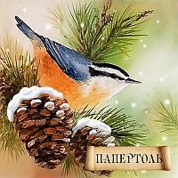 Набор для создания объемной картины из бумаги Зимняя пташка