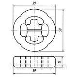 32-12 Подушка подвески глушителя усиленная ВАЗ 1111, 2108 — 2115, 2120; 2108-1203073-20, фото 2