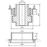 26-03 Сайлентблок подвески кабины 17,4х70,4х68,5 MAN F2000, F90; 81962100424; 81962100437, фото 2