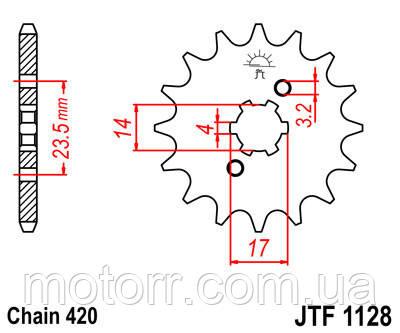 Звезда передняя JT JTF1128.12