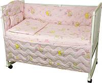Набор в кроватку 977 Мишки пузатики розовый РУНО