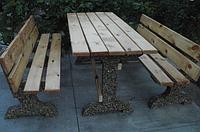 Стол Садовый изготовленный по технологии мытый бетон