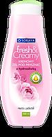 Soraya fresh&Creamy Крем гель для душа с увлажняющим розовой водой