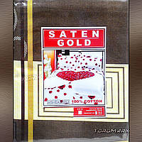 """Полуторный комплект спального белья 100 % хлопок """"SATEN GOLD"""" 150 х 210 см"""