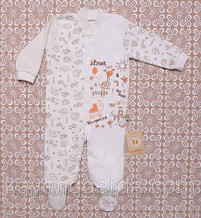 Человечки для новорожденных мальчиков 68рост. Комбинез. Всесезонный 1402Kay. В наличии 68,74,80 Рост, фото 2