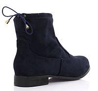 Красивые замшевые ботинки синего цвета
