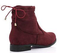 Красные замшевые ботинки на каждый день