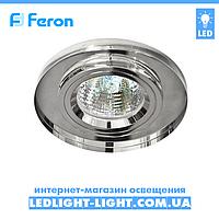 Врезной точечный светильник Feron 8060-2 стекло, прозрачный