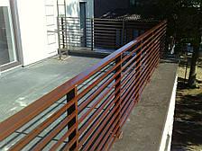 Перила деревянные уличные, фото 2