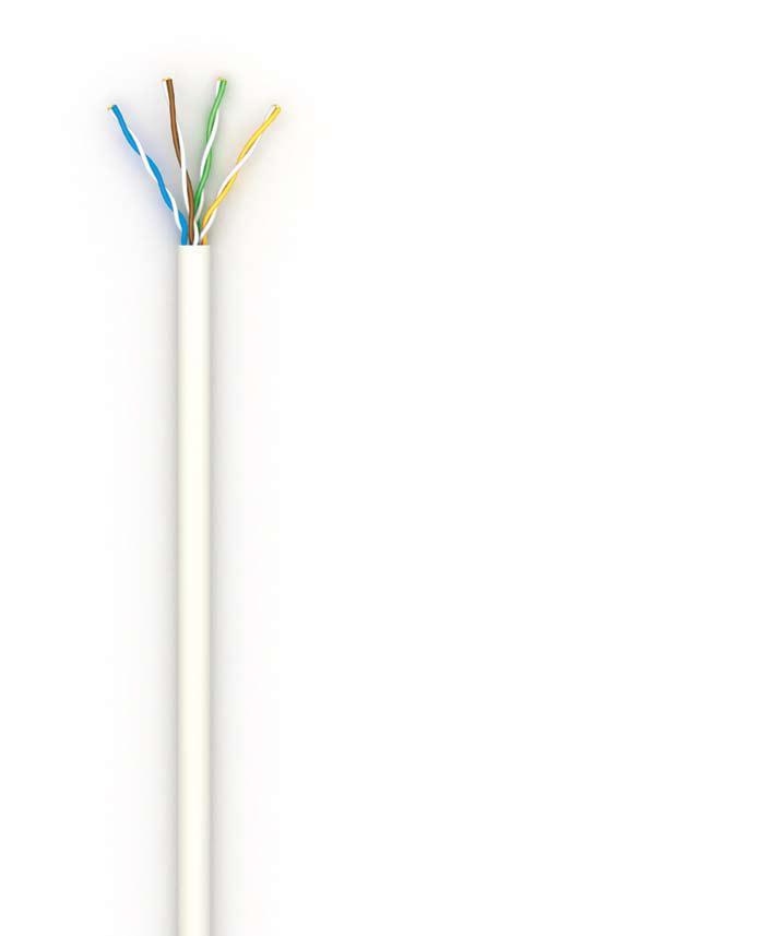 Кабель OK-Net КПВ-ВП (350) UTP кат.5е, 4х2х0.51 бухта 305м