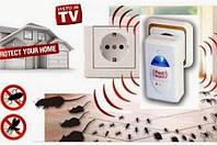Ультразвуковой отпугиватель грызунов и насекомых Pest Reject электромагнитные волны + ультразвук