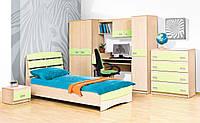"""Детская спальня """"Саванна"""" в комплекте шкаф, пенал, кровать, каркас, стол письменный, тумбочка, полка, комод."""