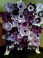 Бумажный цветочный фон сиреневый. Бумажные цветы