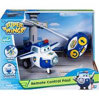 Супер крылья Трансформер Спасатель Пол на радиоуправлении Super Wings (Свет и звук)