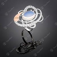 Серебряное кольцо с лунным камнем. Артикул П-308